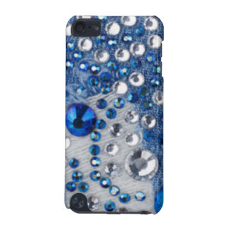 Blue & White Diamonds Blue Jean Pattern Design iPod Touch 5G Case