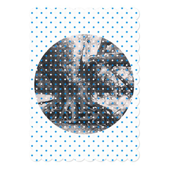 blue, white dots, feminin bavarian card