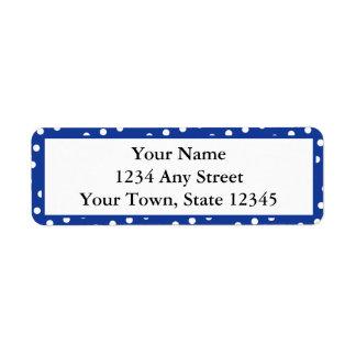 Blue & White Dots Printed Return Address Labels