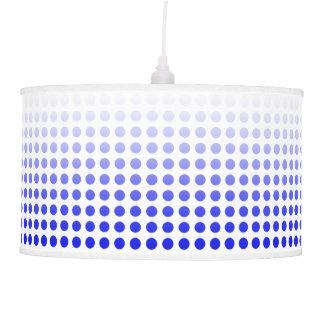 Blue & White Fade Polka Dot Pendant Lamp