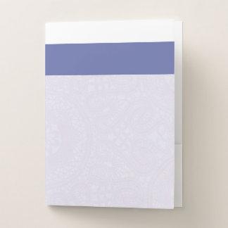 Blue & White Filigree Pocket Folder