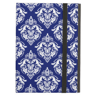 Blue & White Floral Damasks Geometric Pattern Case For iPad Air