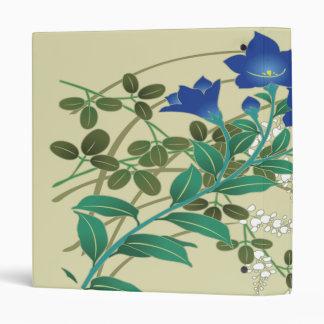 Blue & White Floral Kimono Japanese Fine Art 3 Ring Binder