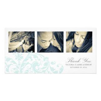 BLUE & WHITE FLOURISH | WEDDING THANK YOU CARD