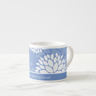 Blue White Flowers Espresso Cup