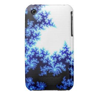 Blue & white fractal iPhone 3 case