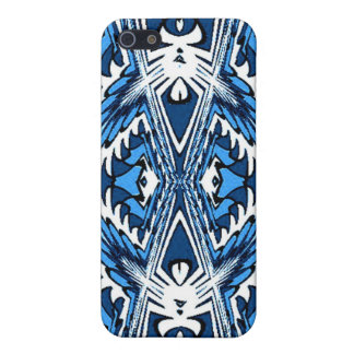 Blue White Fractal Speck Case Cases For iPhone 5