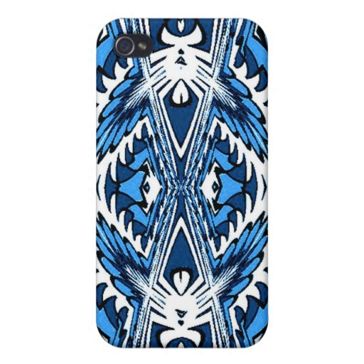Blue White Fractal Speck Case iPhone 4/4S Cover