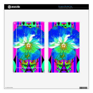 Blue-White Fuchsia Fantasy Color Gifts by Sharles Kindle Fire Decal
