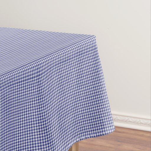 Blue white gingham 52 x 70 cotton table cloth tablecloth for Table induction 70 x 52