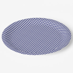 Blue-White Gingham-PAPER PARTY PLATES  sc 1 st  Zazzle & Blue Gingham Plates | Zazzle