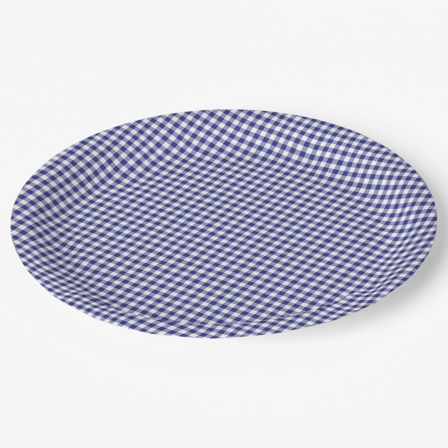 gingham paper plates
