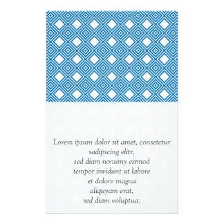 Blue, white, grey flyer