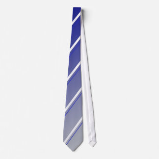 Blue White Grey Striped Tie