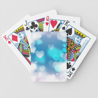 BLUE WHITE HEARTS LAYERS BOKEH DIGITAL WALLPAPER BICYCLE PLAYING CARDS