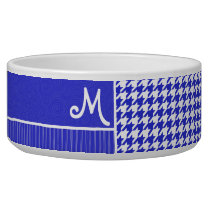 Blue & White Houndstooth Bowl