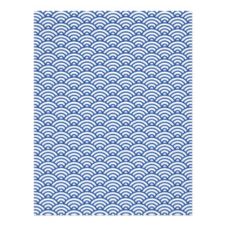 Blue white Japaneese wave scrapbook or craft paper