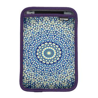 Blue & White Kaleidoscope Design iPad Mini Sleeves