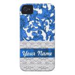 Blue & white lace Case-Mate iPhone 4 case