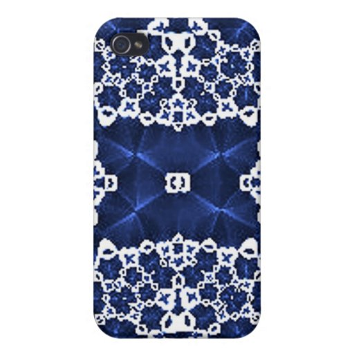 Blue White Lace Speck Case iPhone 4/4S Cover