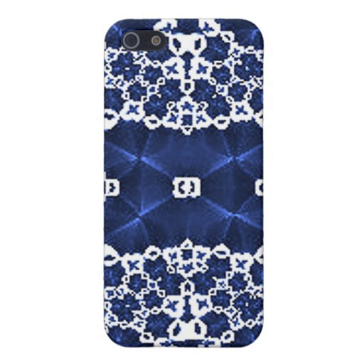Blue White Lace Speck Case Covers For iPhone 5