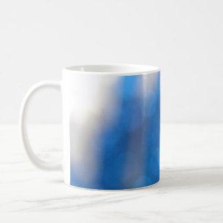 Blue White Light Effects Coffee Mugs