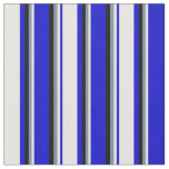 [ Thumbnail: Blue, White, Light Slate Gray, and Black Lines Fabric ]