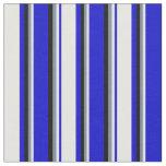 [ Thumbnail: Blue, White, Light Slate Gray, and Black Lines Fabric ]