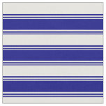 [ Thumbnail: Blue & White Lined Pattern Fabric ]