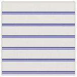 [ Thumbnail: Blue & White Lines Fabric ]