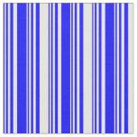 [ Thumbnail: Blue & White Lines Pattern Fabric ]