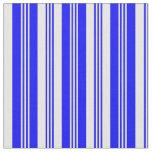 [ Thumbnail: Blue & White Lines/Stripes Pattern Fabric ]