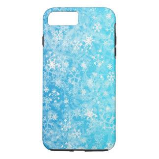 Blue,white mixation colours snowflake iPhone 8 plus/7 plus case