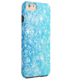 Blue,white mixation colours snowflake tough iPhone 6 plus case