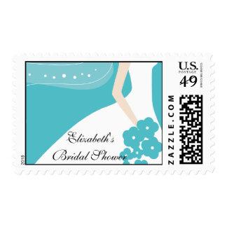 Blue/White Modern Bride Bridal Shower Stamp