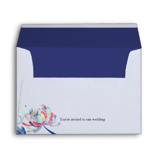 Blue & White Mum Wedding Invitation A7 Envelopes