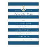 Blue White Nautical Save The Date Flat Photo Card