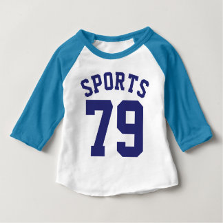 Blue White & Navy Baby | Sports Jersey Design Baby T-Shirt
