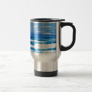 Blue White Ocean Waves Commuter Mug Gifts