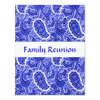 Blue & white Paisley Invitations Any Occasion
