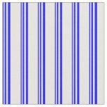 [ Thumbnail: Blue & White Pattern of Stripes Fabric ]