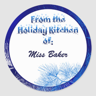 Blue White Pine Holiday Kitchen Of Custom Stickers