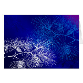 Blue White Pine Vintage Art Cards