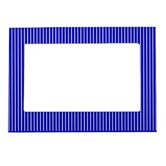 Blue White Pinstripe Magnetic Frame