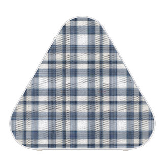 Blue White Plaid 1 Bluetooth Speaker