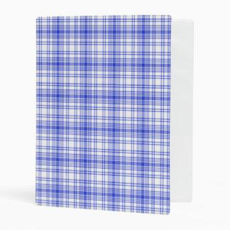 Blue White Plaid 2 Mini Binder