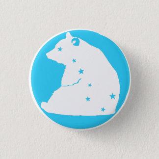 blue white plates Great Bear Pinback Button