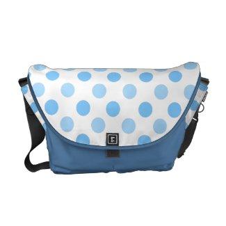 Blue & White Polka Dot: Messenger Bag rickshawmessengerbag