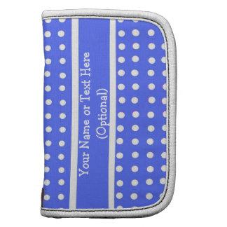 Blue/White Polka Dot Rickshaw Folio Planner