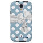 Blue & White Polka Dot Samsung Galaxy S4 Case